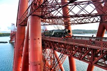 Flying Scotsman tours of Scotland reinstated: Flying Scotsman Forth Bridge May 15