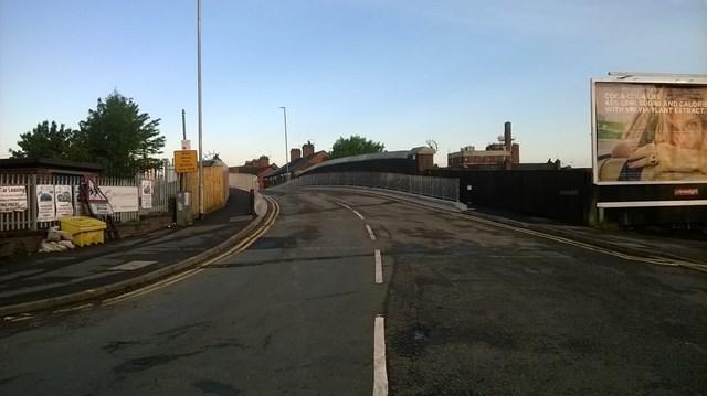 £1.7m Crewe road and rail bridge refurbishment completed three weeks early: Hungerford Road bridge, Crewe
