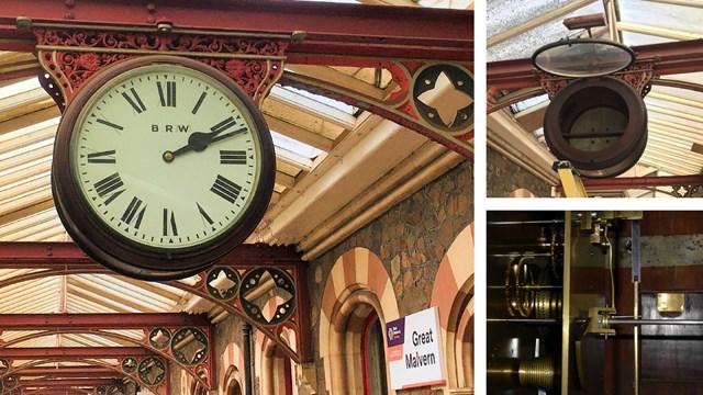 Clocking up £8,000 towards station's heritage timepiece: Great Malvern Clock renovation composite