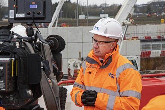 Visit to Interchange worksite LM March 2020: Credit: Jeremy de Souza (graduate, Mark Thurston, LM, Interchange, station, media, phase one, LMJV, enabling works, site) Internal Asset No.  15089 March 2020
