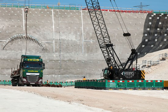 Progress at Chiltern tunnel site as HS2 prepares for arrival of first tunnelling machines: South Portal Site Update July 2020