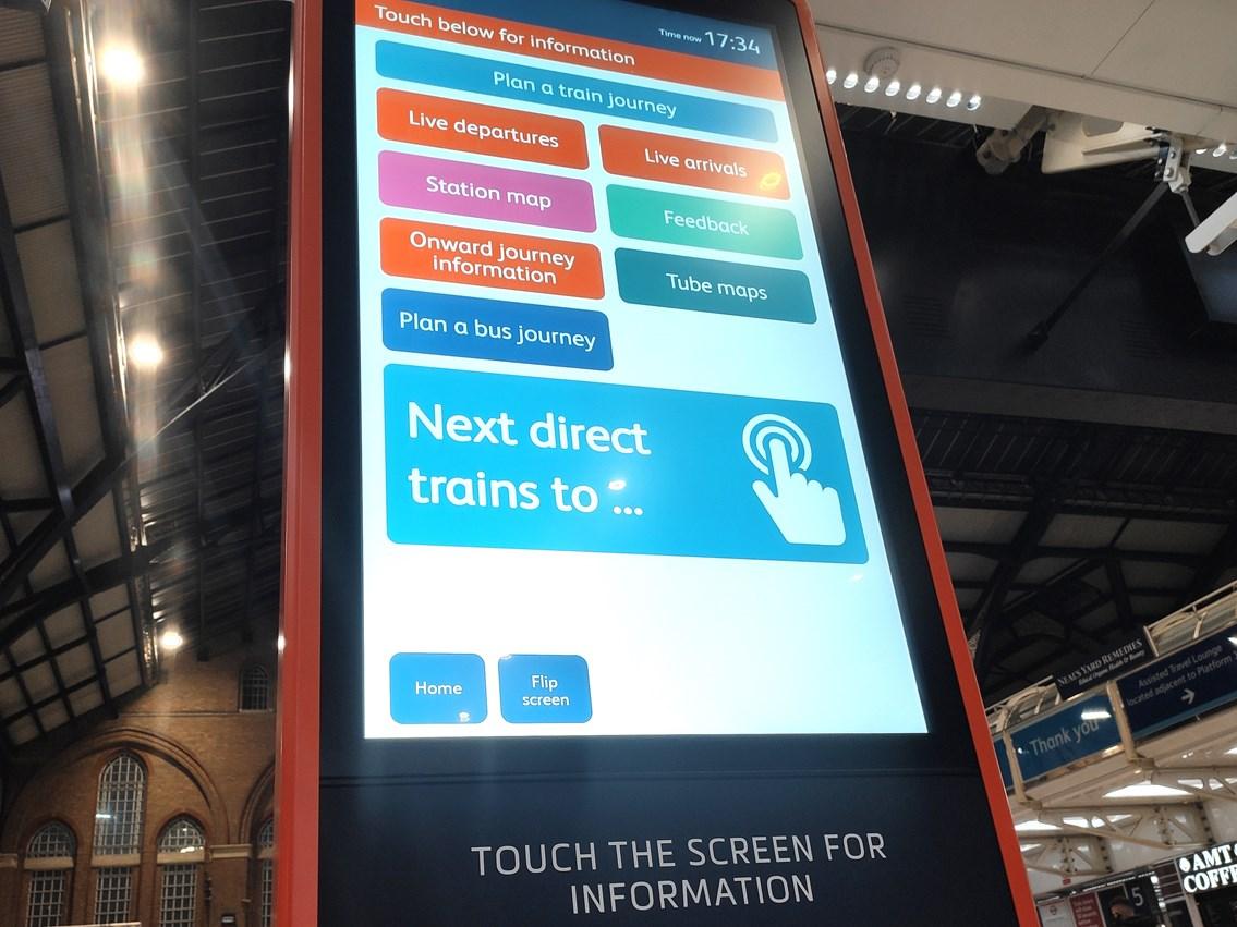 Liverpool Street giant interactive screen