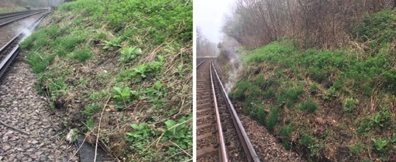 Network Rail engineers work round-the-clock to reopen Horsham-Dorking line following landslip: Holmwood landslip