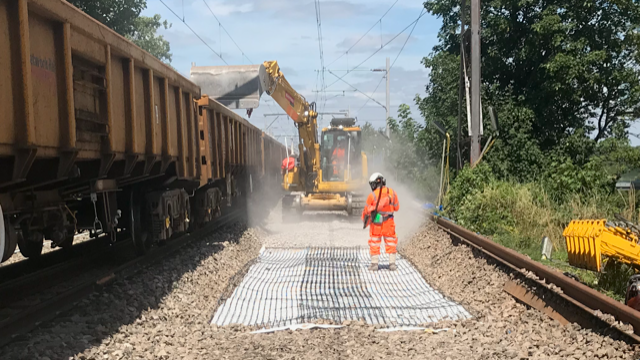 Track replacement work at Clapton continues at weekends to increase reliability of the rail service: Clapton track renewals 2