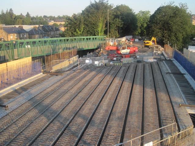 Kerse Road bridge beams hit the deck: 26 July Kerse Bridge Deck Beams complete