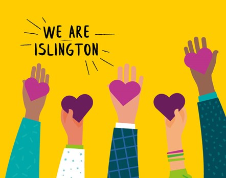 Artwork for the We Are Islington helpline
