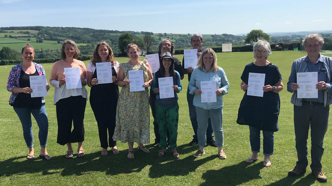 Network Rail volunteer leads mental health first aider training to local Bradninch community: Bradninch community mental health first aider course