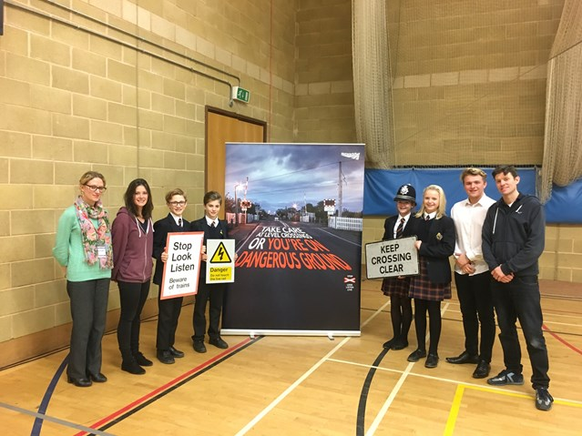 PHOTO: Newport school students urged to stay safe around the railway at Christmas: Students at Joyce Frankland Academy