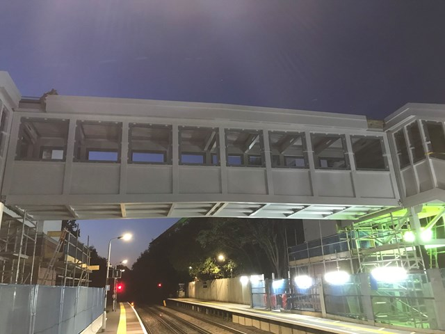 Major construction work taking place at Crawley station to make it accessible for all passengers: Crawley footbridge