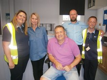 Stuart Legg and partner Natalie Bresler with Southeastern colleagues at Maidstone East station (002)