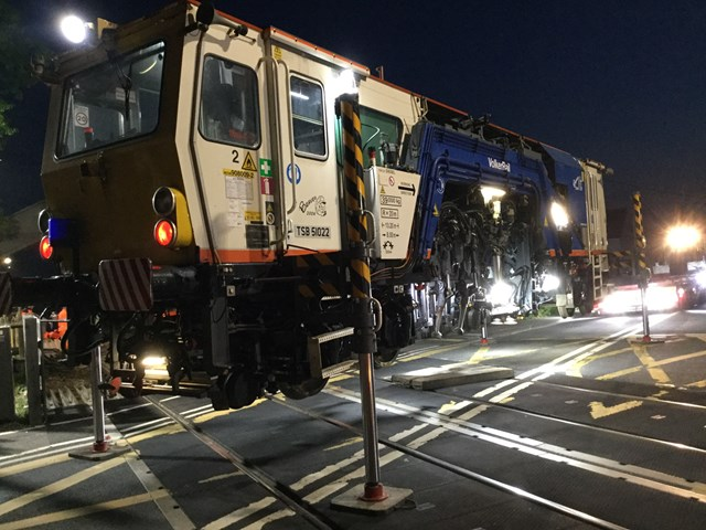 Major bank holiday railway upgrade work completed in Kent, Sussex and Wessex: Cooksbridge track renewals