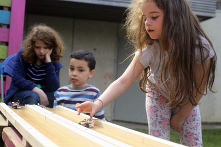 Solar toy car race at Three Corners Adventure Playground