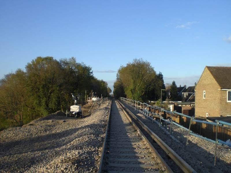 Network Rail to rebuild embankment at site of Surrey railway landslip: Wrecclesham Landslip Line Re-opening, 3 May 2016