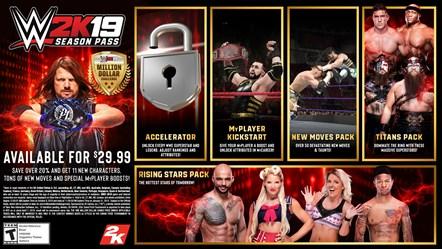 Bobby Lashley, EC3, Lio Rush and Ricochet Set to Headline WWE® 2K19 Season Pass and Downloadable Content Offerings: WWE2K19 Season Pass Art
