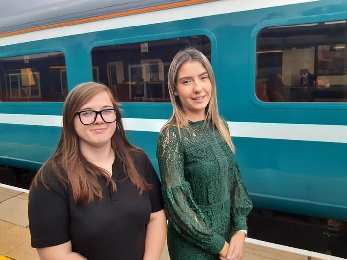 Demi Woodham (L) and Katie Ratcliffe