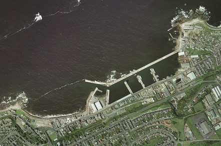 Buckie harbour: Aerial picture of Buckie harbour.