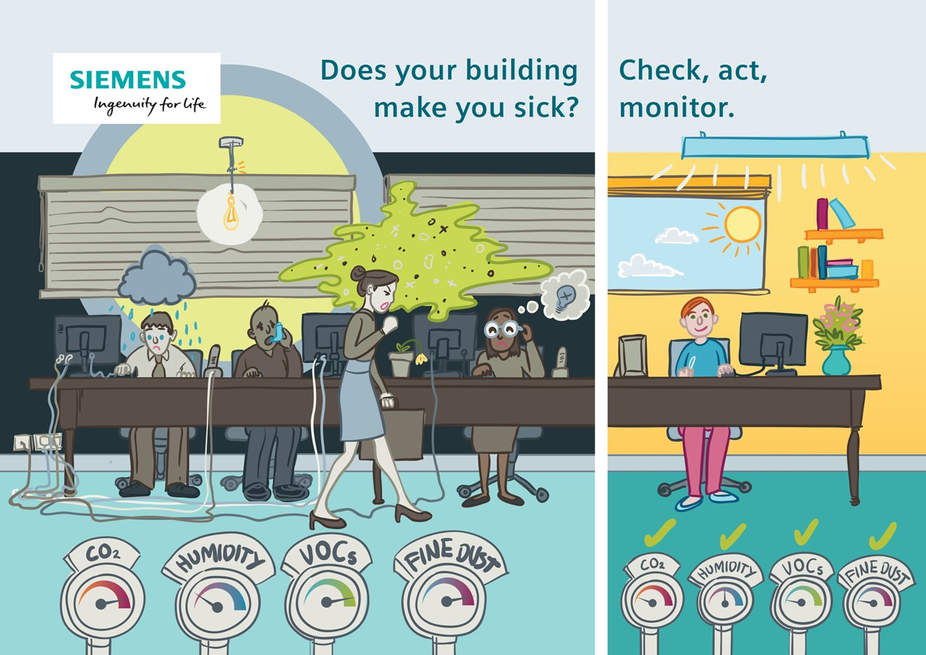 Does your office make you sick? Here are 5 tips for a healthier, more productive and happier office: 5 tips to media pic