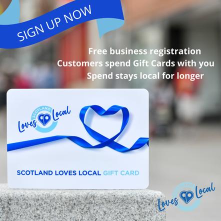 Scotland Loves Local gift card promo