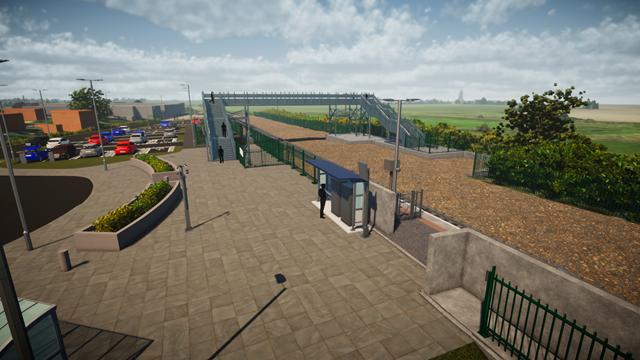 Soham Station - full size forecourt