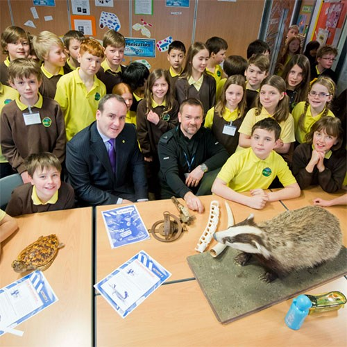 Rearing young detectives about wildlife crime: Copyright Chris Watt Photography - www.photoshelter.com