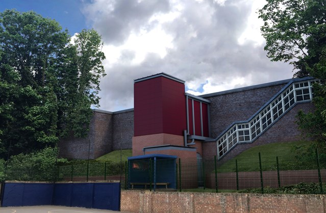 Lift off at Carshalton station as work begins to make it accessible to all: Artist's impression of the new lifts at Carshalton
