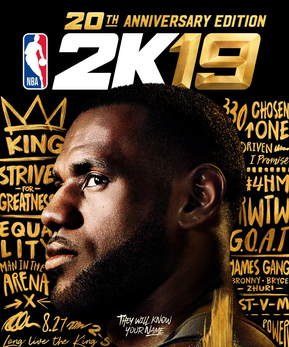 LeBron James' Words Speak Volumes on NBA® 2K19's 20th Anniversary Edition: NBA2K19 20AE Art