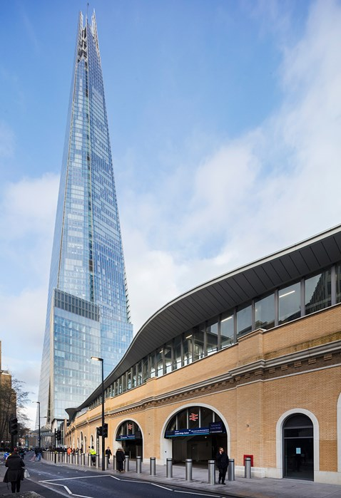 London Bridge station with Shard in distance-2