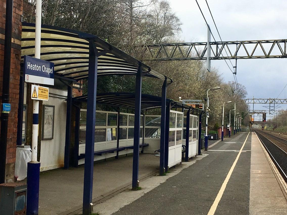 Heaton Chapel station platform