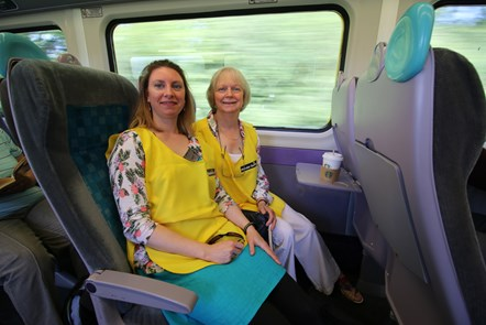 Milford Haven Macular Society Group on train