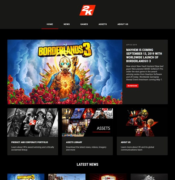 2K Games Website