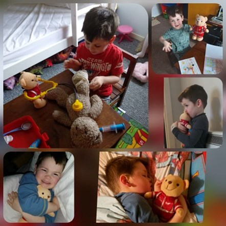 Logan reunited with trauma teddy: logan
