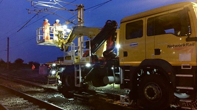 Overhead line repairs Hest Bank 17 January 2020 1
