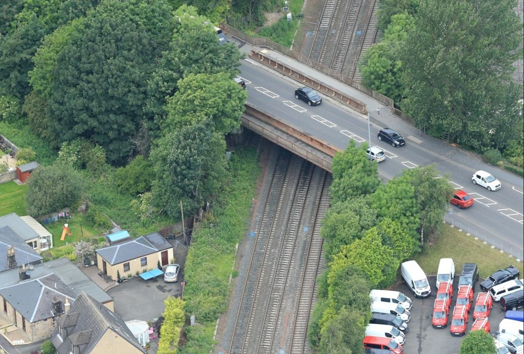 Kerse Road bridge works will improve City transport networks: 223 Oct  Kerse Road Aerial