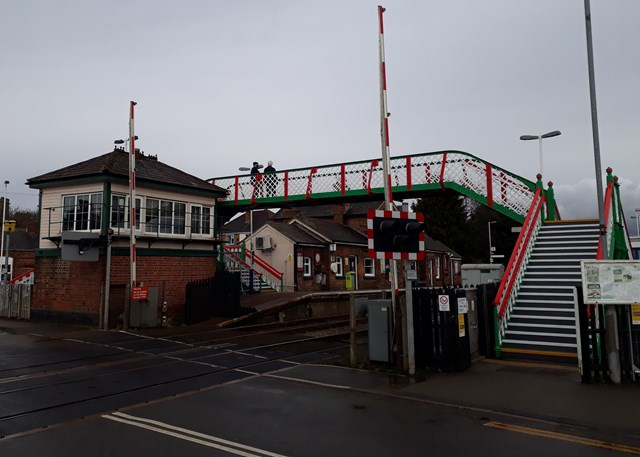 Narborough station footbridge