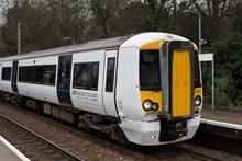 Battery-powered train (IPEMU) at Mistley railway station: The new train contributes to Network Rail's commitment to reduce its environmental impact, improve sustainability and reduce the cost of running the railway by 20 per cent over the next five years. It could ultimately lead to a fleet of battery-powered trains running on Britain's rail network which are quieter and more efficient than diesel-powered trains, making them better for passengers and the environment. Network Rail and its industry partners – including Bombardier, Abellio Greater Anglia, FutureRailway and the Rail Executive arm of the Department for Transport (which is co-funding the project) – recognise the potential for battery-powered trains to bridge gaps between electrified parts of the network and to run on branch lines where it would be too expensive to install overhead electrification.