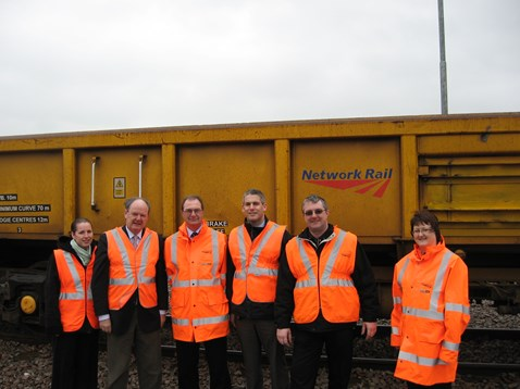 Malcolm Moss MP at Whitemoor Yard