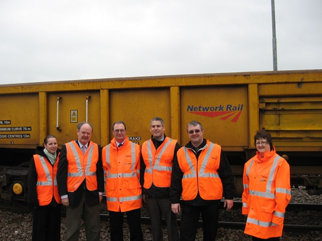 Malcolm Moss MP at Whitemoor Yard: On site to dicuss future plans for Whitemoor Yard