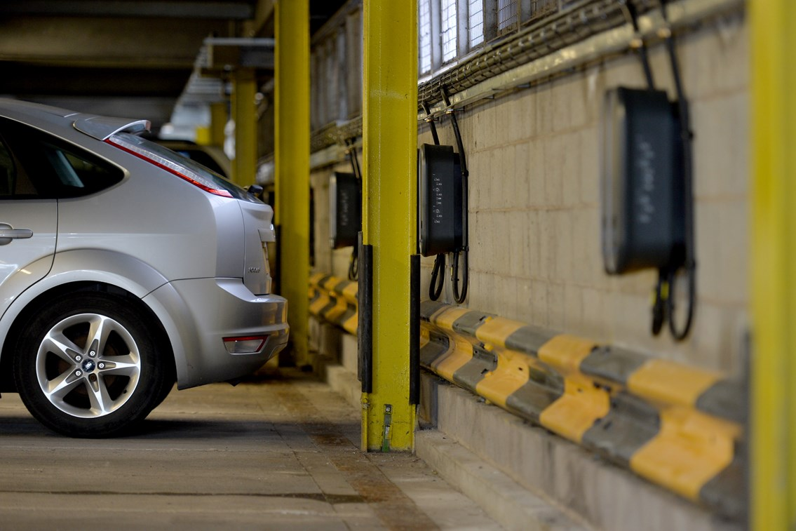 Leeds station multi-storey car park re-opens – boasting the first Network Rail electric charging points: Electric charging points are now available at Leeds train station