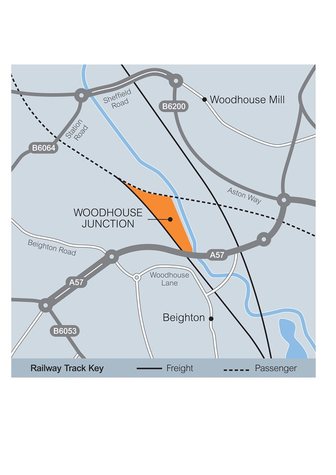 Woodhouse Junction - map: map of the railway land being targetted for the National Engineering Centre