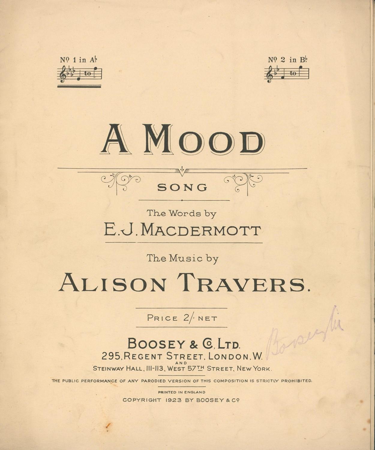 Alison Travers - A Mood 1923