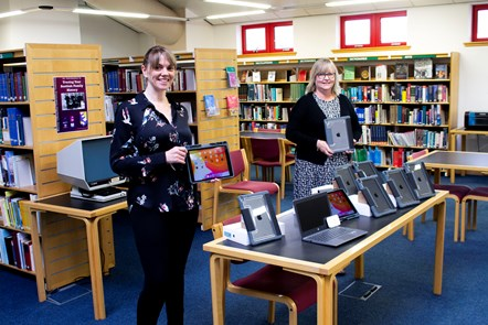 Gail and Karen from Moray Council's library service