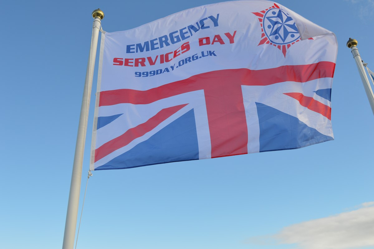 Emergency Services Day Flag