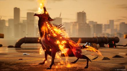 Marvel s Midnight Suns - Charlie - Flaming Howl