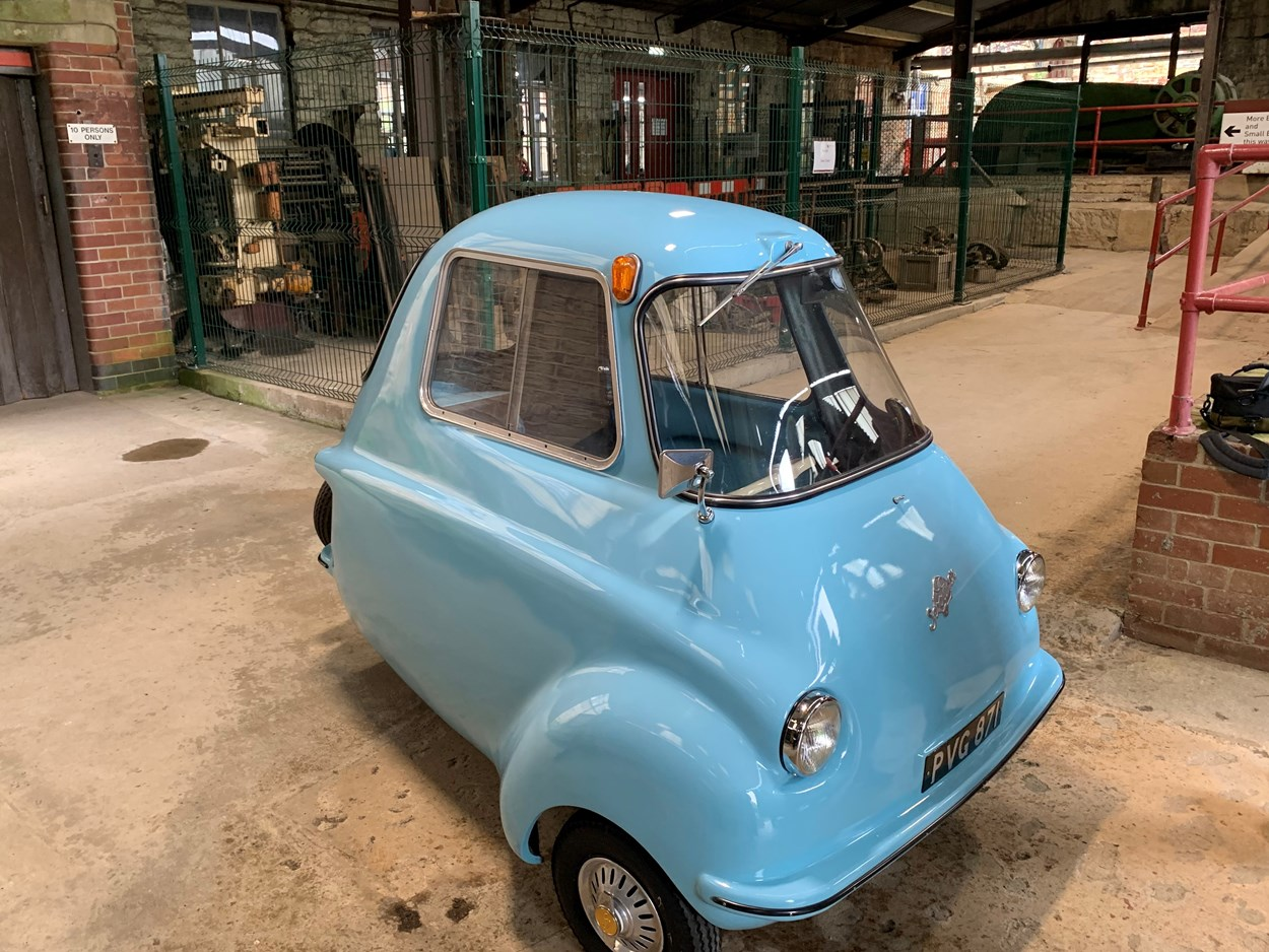 Leeds to Innovation: The Scootacar which is on display as part of Leeds to Innovation at Leeds Industrial Museum.