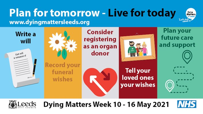 Dying Matters week returns to break death and dying taboos: Dying Matters Awareness Week 2021