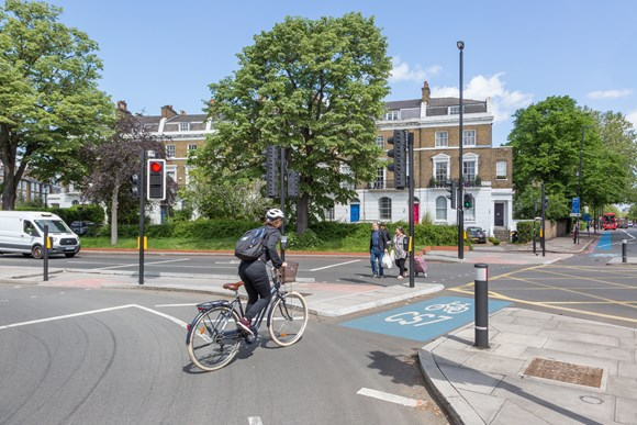 The number of protected cycle routes have doubled since 2016 - copyright Transport for London