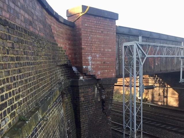 Bridge strike causes disruption to West Coast main line passengers in Staffordshire: Damage to the Worston Lane bridge north of Stafford