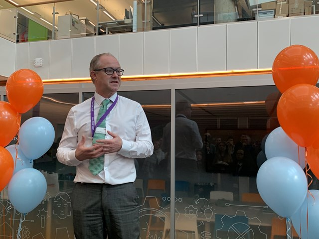Network Rail chief executive Andrew Haines at this morning's opening event