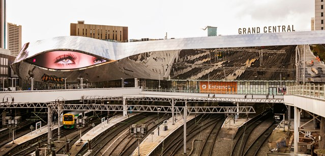 More passengers than ever are happy with Birmingham New Street station: Birmingham New Street and Grand Central - platforms from above