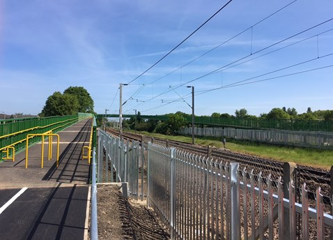 Slipe lane footbridge completed